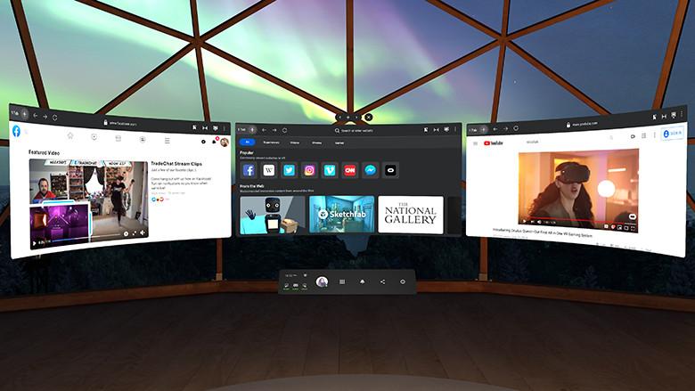 Facebook revela a interface do usuário do sistema Oculus Quest revisada 2