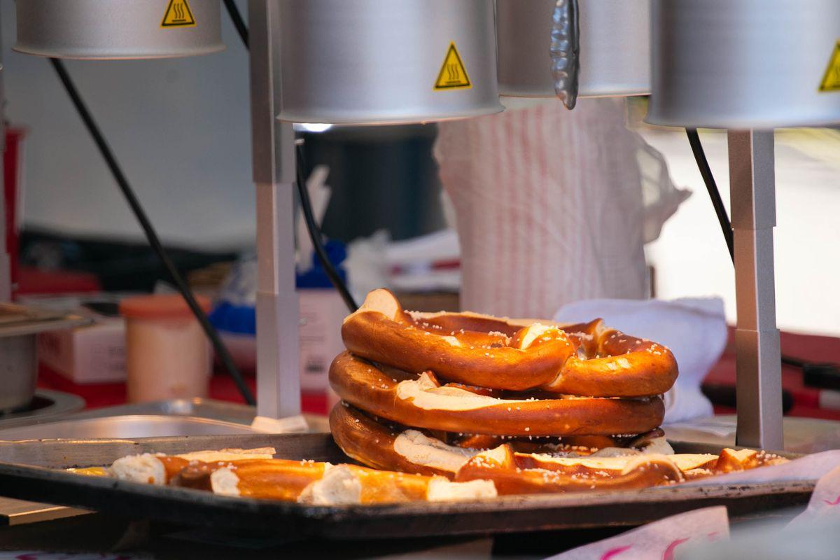 Bavarian pretzels from Dmen Tap at the Taste of Chicago on July 12, 2019.
