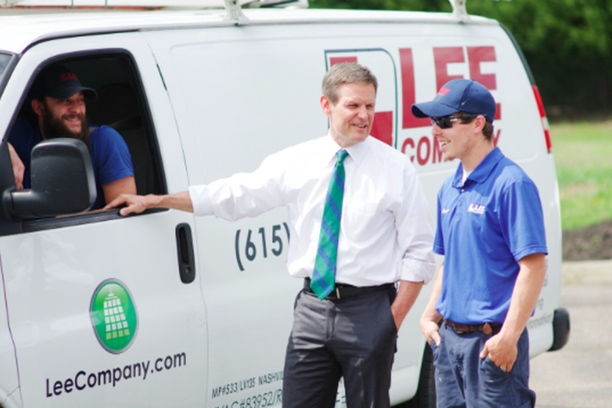 Bill Lee was elected Tennessee's 50th governor after running the Franklin-based Lee Co., a $250 million home services business with more than 1,200 employees. The Republican businessman took office in January.