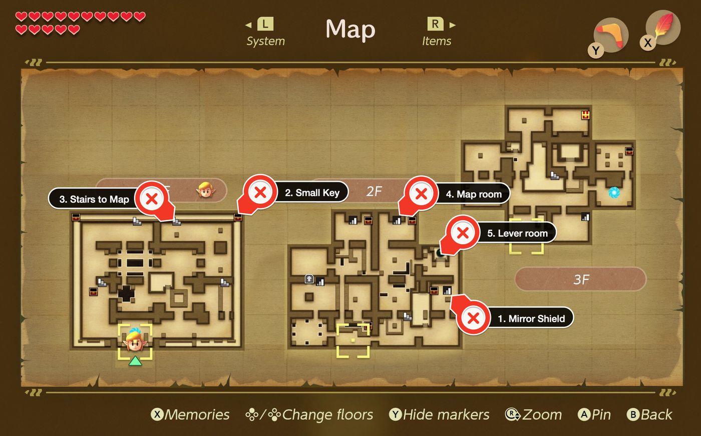 Link S Awakening Eagle S Tower Walkthrough And Maps Polygon