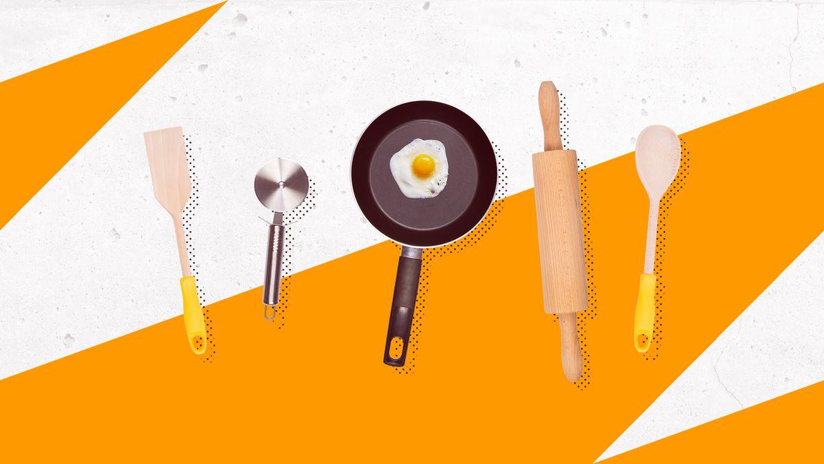 Photoillustration of cooking utensils