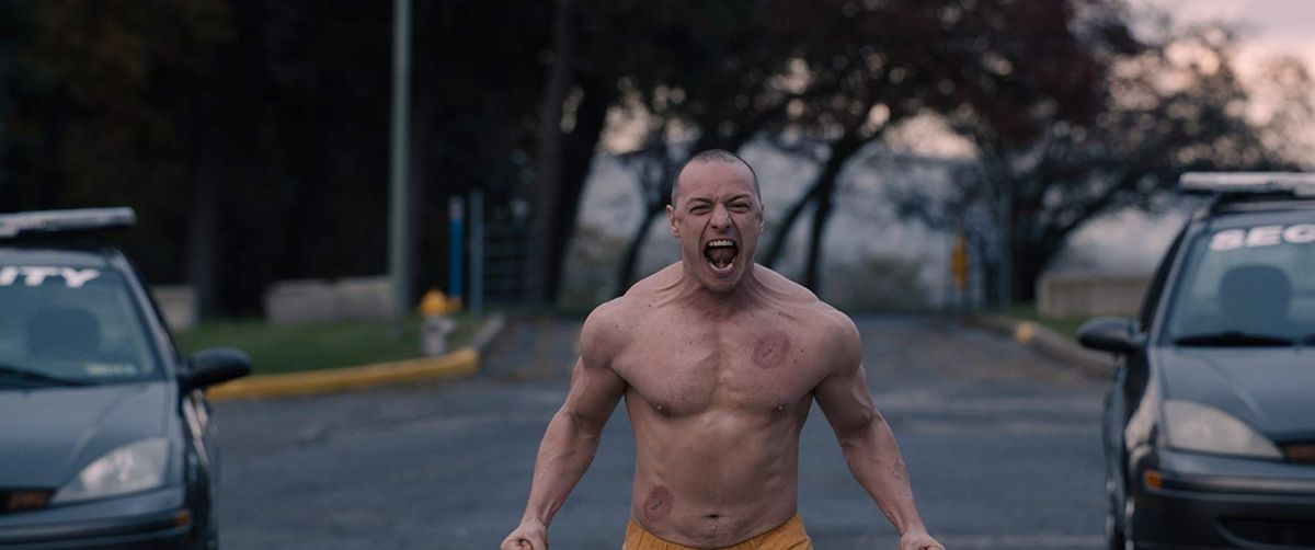 James McAvoy returns as a split-figure Kevin Wendell Crumb in Glass.