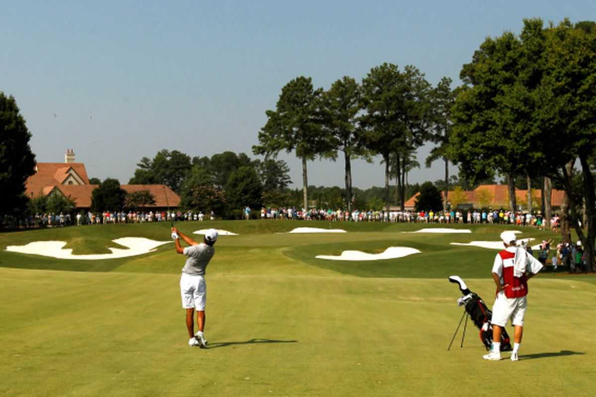 A scene from the 2014 U.S. Amateur Championship at the Atlanta Athletic Club in Johns Creek.