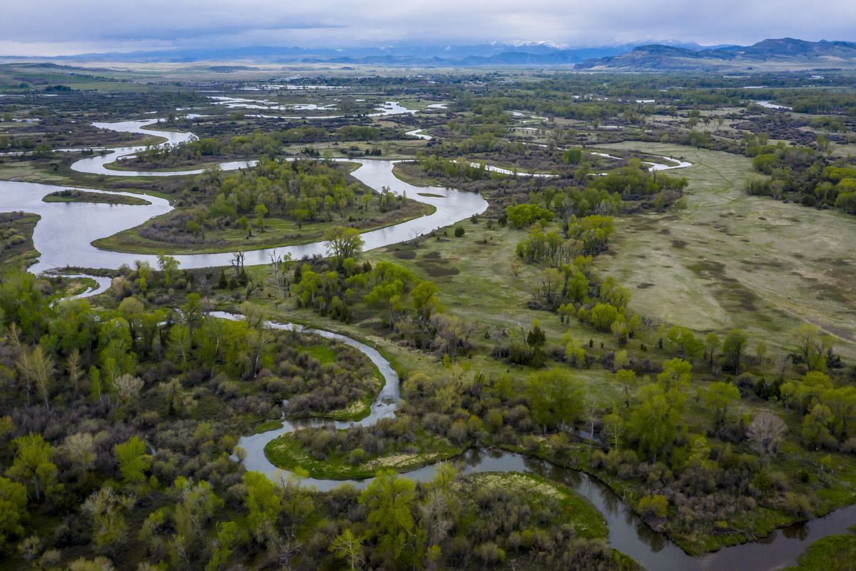 Missouri River Breaks National Monument, the source of the Missouri River, comprised of Jefferson, Madison and Gallatin Rivers, THREE FORKS, MT