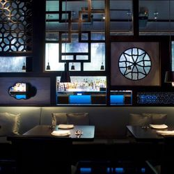 Hakkasan at the Fontainebleau is unique in its sectioned-off design, allowing diners to enjoy gourmet dim sum in an intimate, secluded setting.