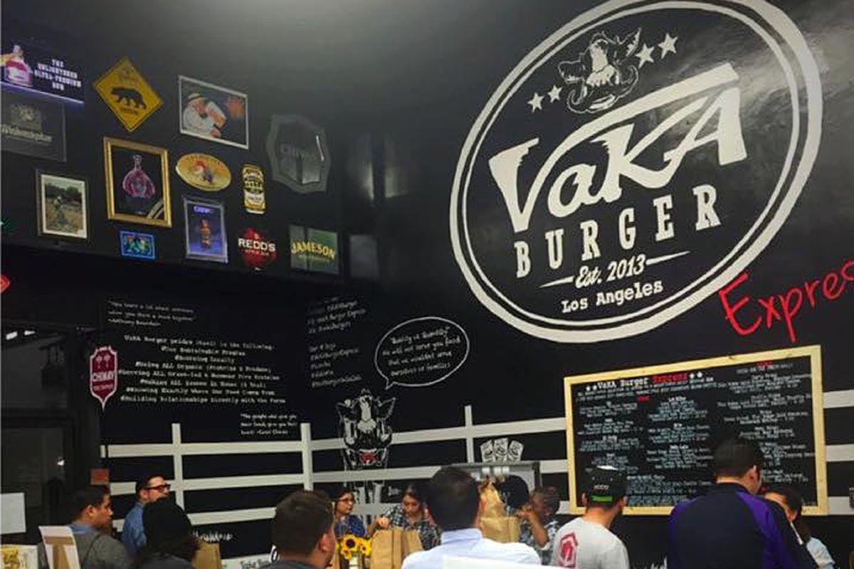 The Vaka Burger counter