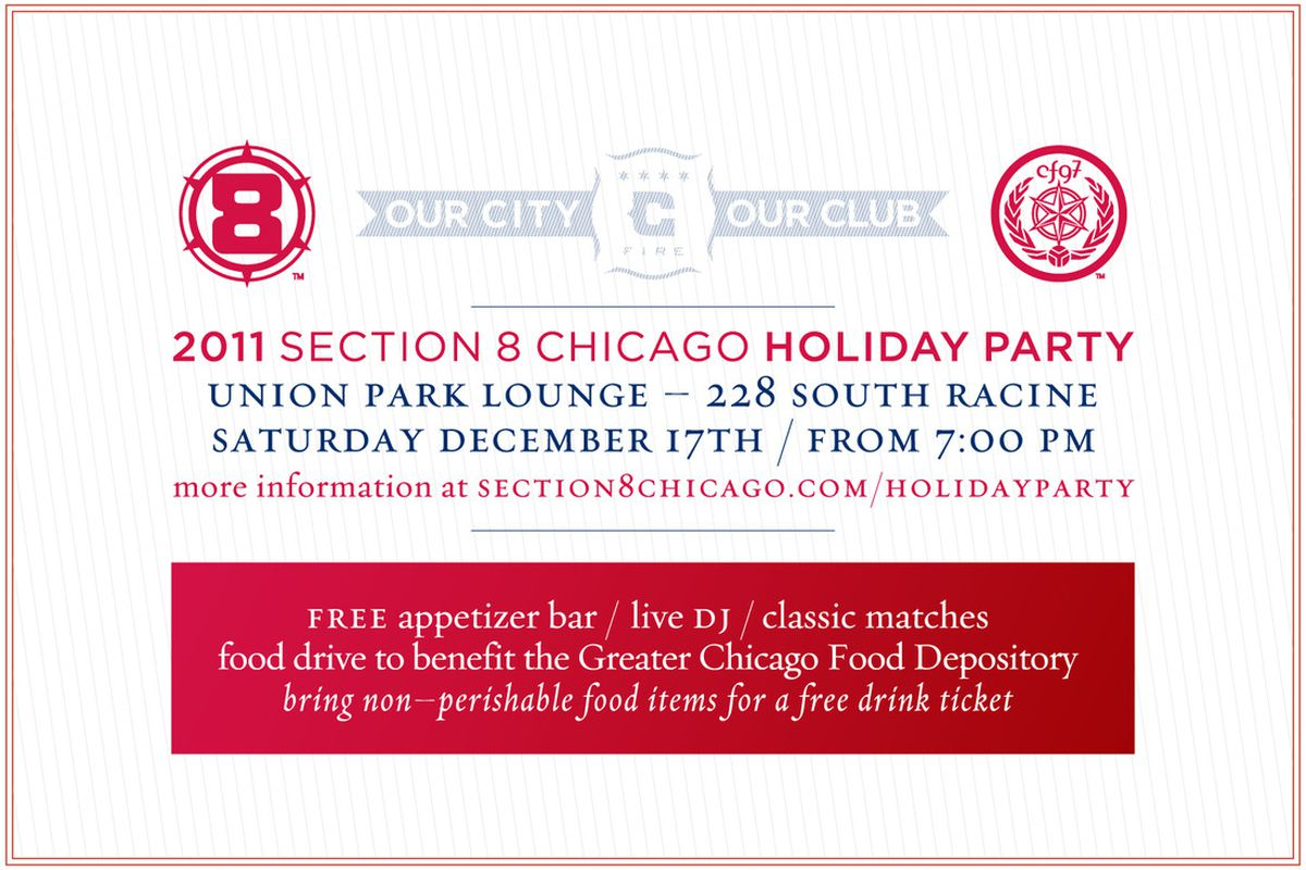 Section 8 Chicago 2011 Holiday Party - Be There