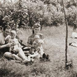 "Archival family photo in ""Aida's Secrets."""