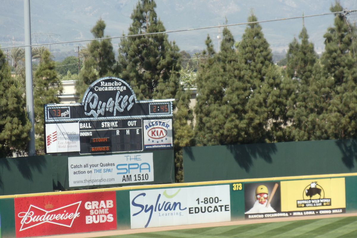 The Quakes play at the Epicenter, just down the road from Dodger stadium