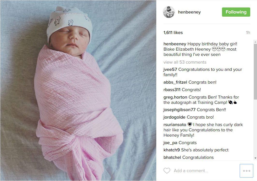 Ben Heeney baby