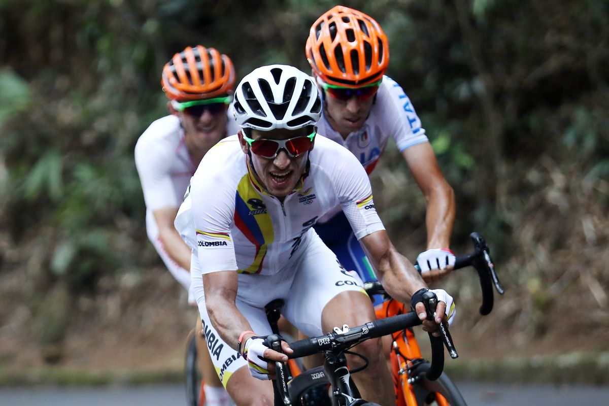 Henao and Nibali in Rio