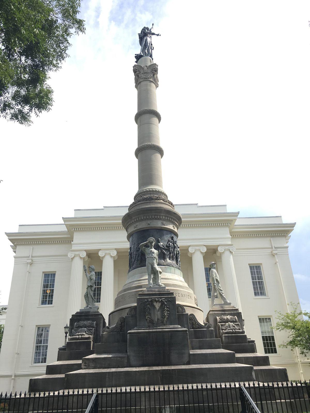 The Confederate monument in Montgomery, Alabama