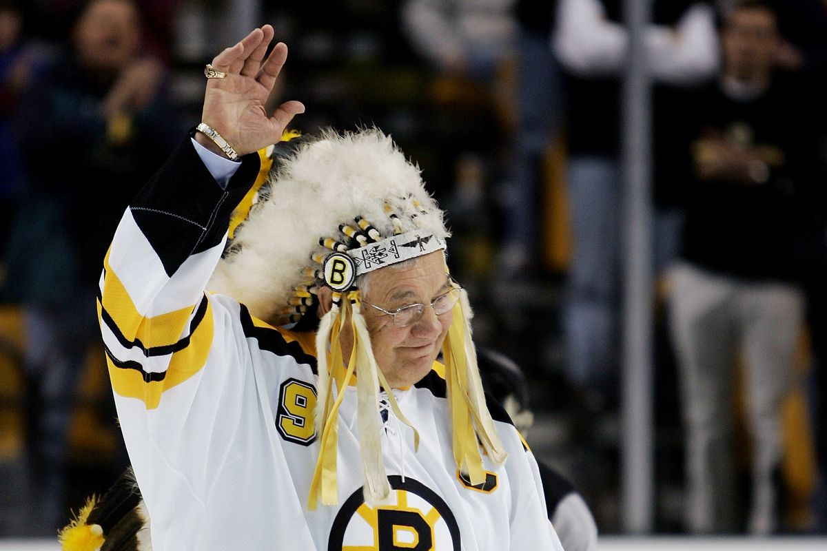 """Leading the Bruins to this very day. John """"Chief"""" Bucyk"""
