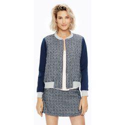 """Matching tweed: <strong>Amour Vert</strong> Art Jacket, <a href=""""http://www.amourvert.com/art-jacket-multi-blue-tweed/"""">$198</a>, and Faith Skirt, <a href=""""http://www.amourvert.com/faith-skirt-multi-blue-tweed/"""">$128</a>"""