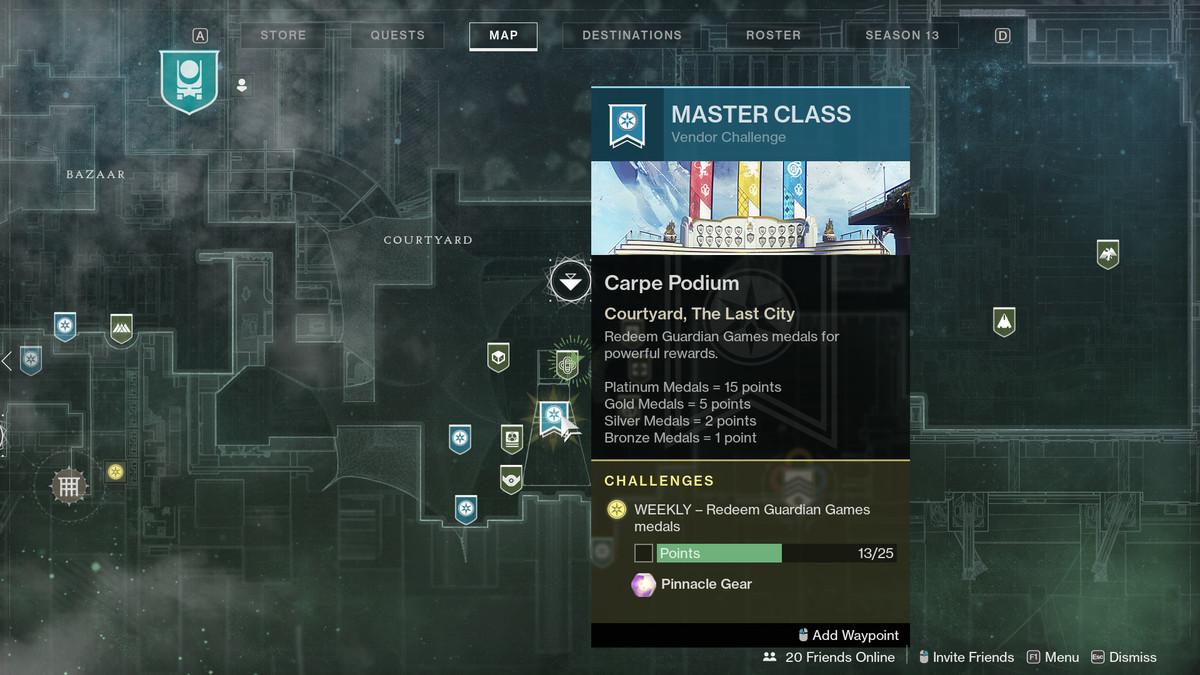 Destiny 2 Guardian Games 2021 podium