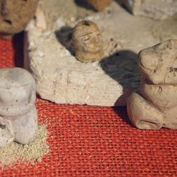 Diety figurines from the earthworks at Poverty Point in Louisiana.