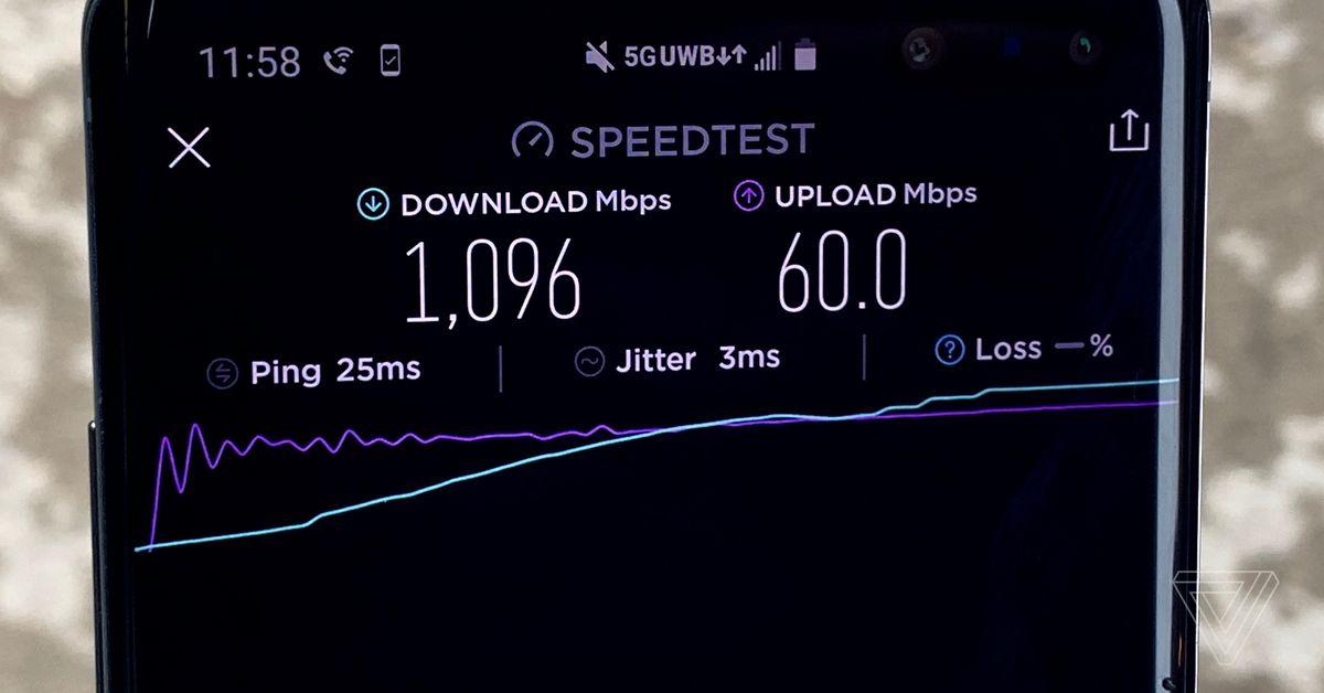 Verizon's 5G network is now hitting gigabit download speeds