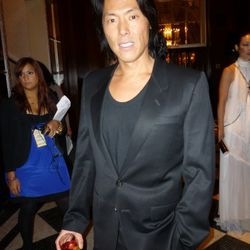 Stephen Gan taking a break from his cocktail to pose for us