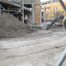 Another view of the ongoing utility work on Sheffield