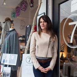 """7 on Locust owner Nadine Curtis in front of her Mill Valley shop. Photos: <a href=""""http://www.gabriellelurie.com"""">Gabrielle Lurie</a> for Racked"""