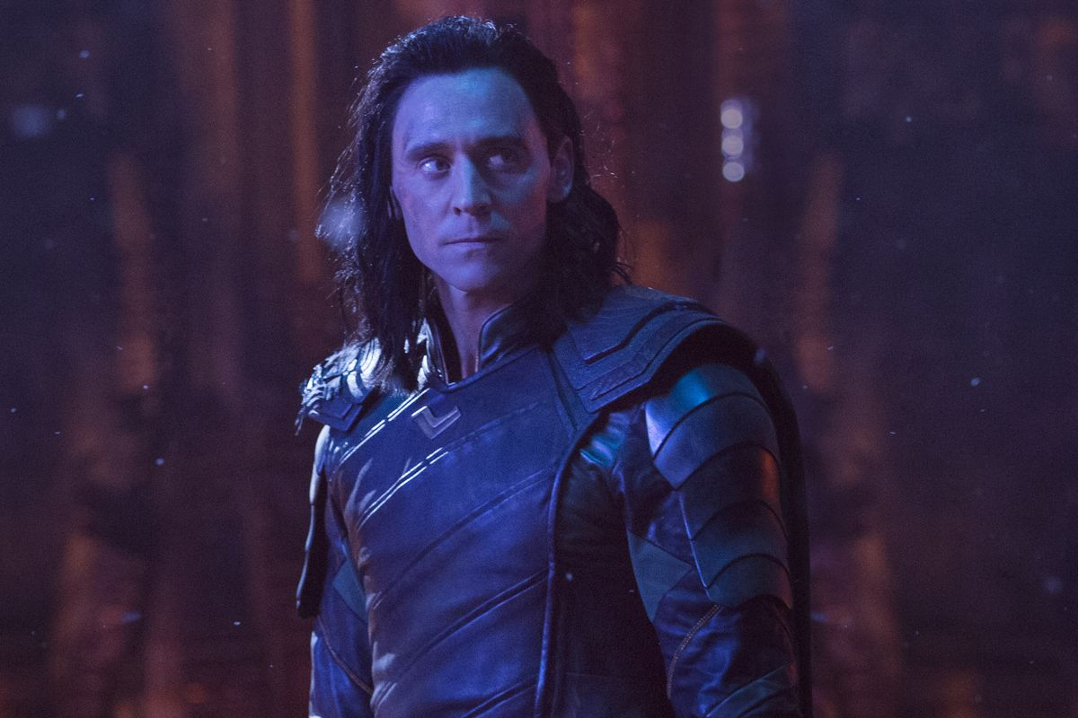 Loki looks to the right in a still from Avengers: Infinity War