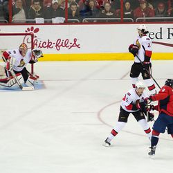 Anderson Saves Ovechkin Shot