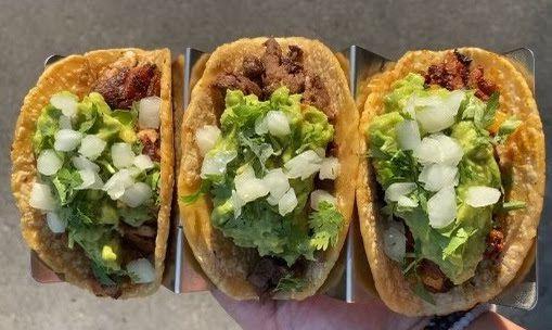 Three tacos from Crack Taco