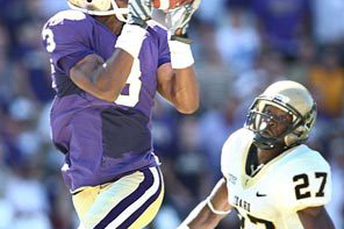 Former Buff recruit WR James Johnson has contributed early for the Washington Huskies.
