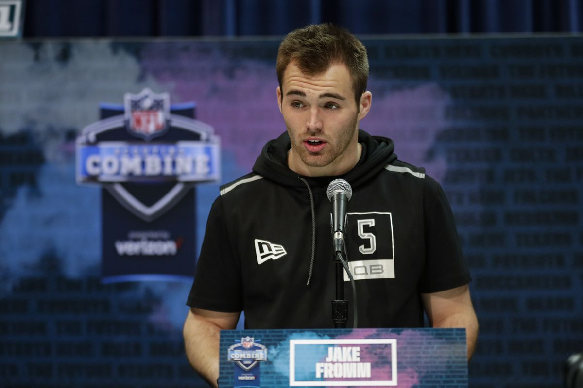 Georgia quarterback Jake Fromm speaks during the NFL Scouting Combine on Tuesday.