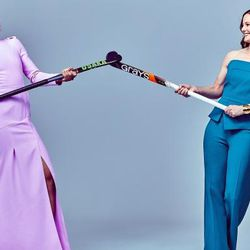 """Olympic gold medalist field hockey players <a class=""""ql-link"""" href=""""https://www.outsports.com/2016/8/7/12397498/married-couple-olympics-richardson-walsh"""" target=""""_blank"""">Kate and Helen Richardson-Walsh</a> were married in 2013."""