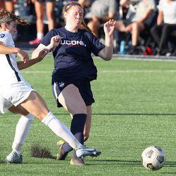 UConn's Joyce Ryder #29 during the New Hampshire Wildcats vs the UConn Huskies exhibition women's college soccer game at Morrone Stadium at Rizza Performance Center in Storrs, CT, on Saturday August 14, 2021.