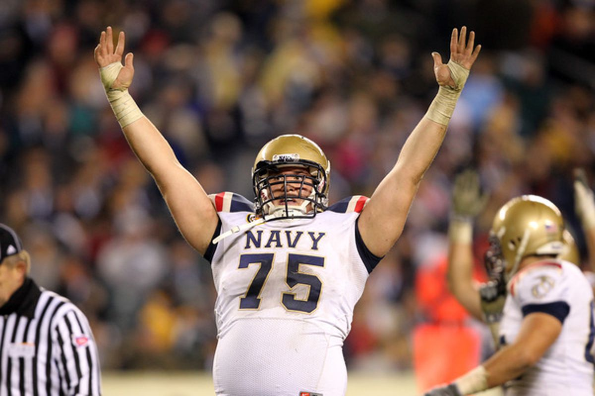 I've got Navy tonight. How about you? (Photo by Hunter Martin/Getty Images)
