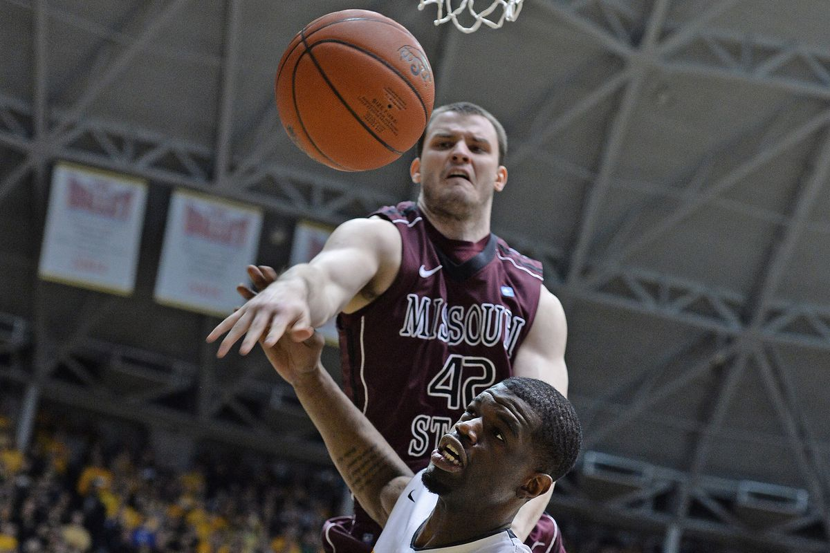 This is a picture of Christian Kirk (Sr-F/C) blocking a shot. It is not from this game, and is not against Eastern Illinois.