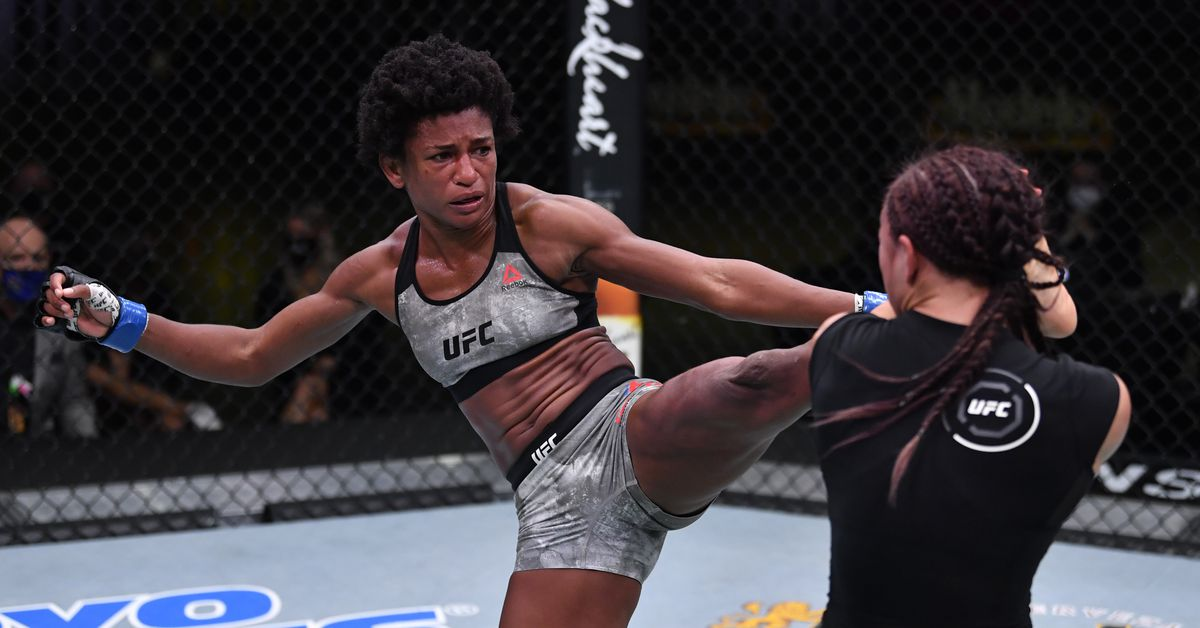 Angela Hill on UFC Vegas 10 loss: 'I've got to start taking b*tches down and hugging them'