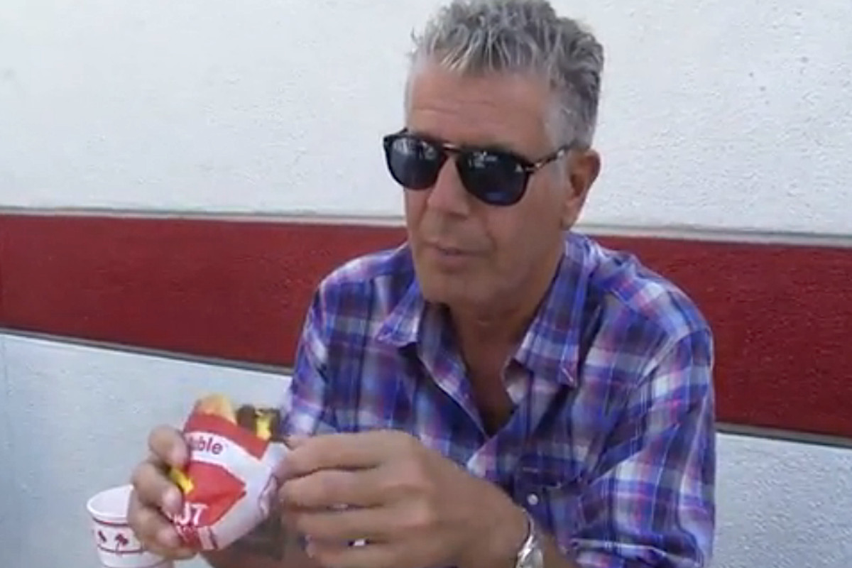 Anthony Bourdain at In-N-Out