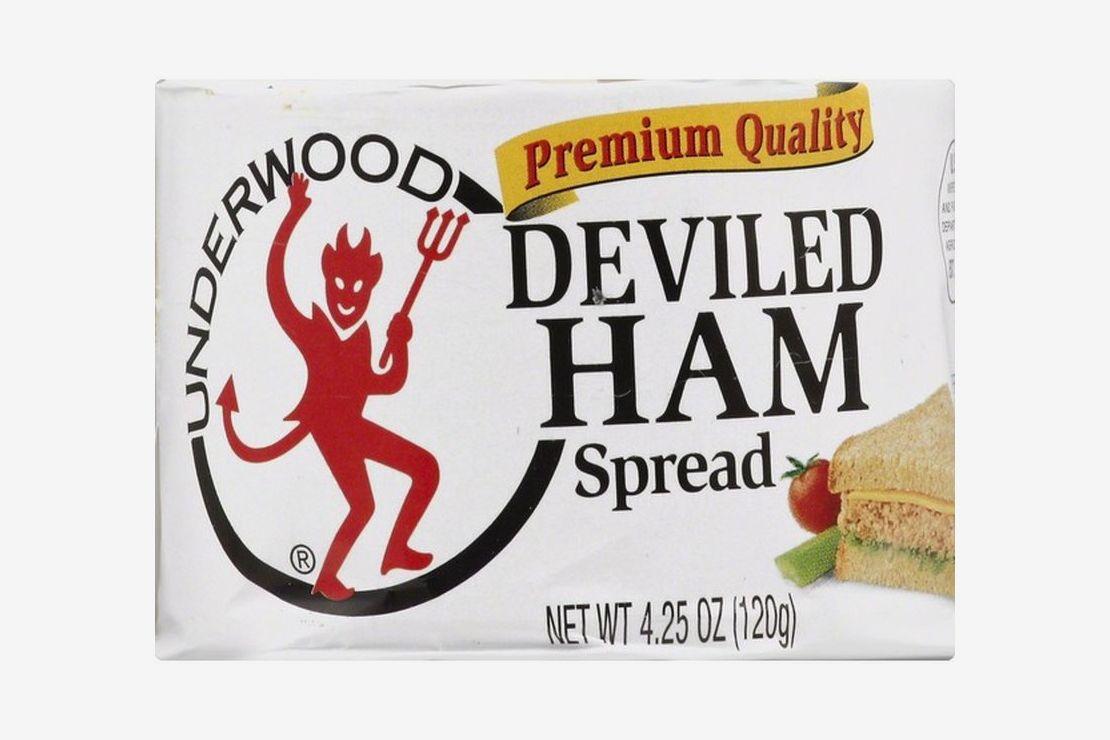 A box of Underwood deviled ham