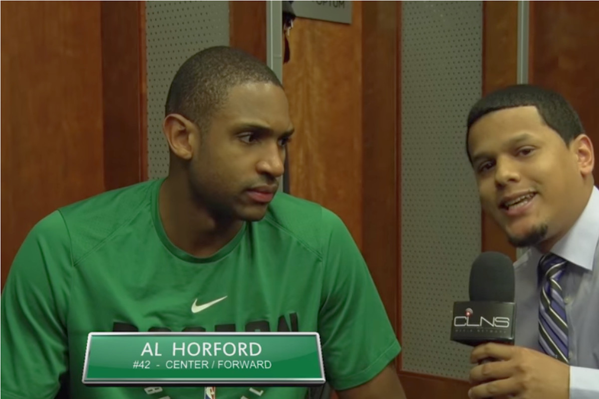 CLNS Exclusive) Al Horford on playing with Kyrie vs Isaiah Thomas ...