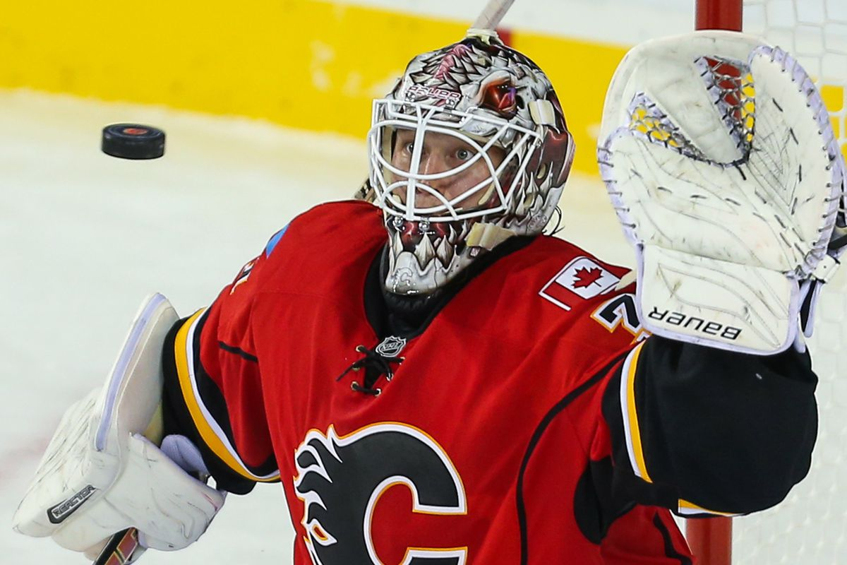 Karri Ramo went down late in the first period and did not return.