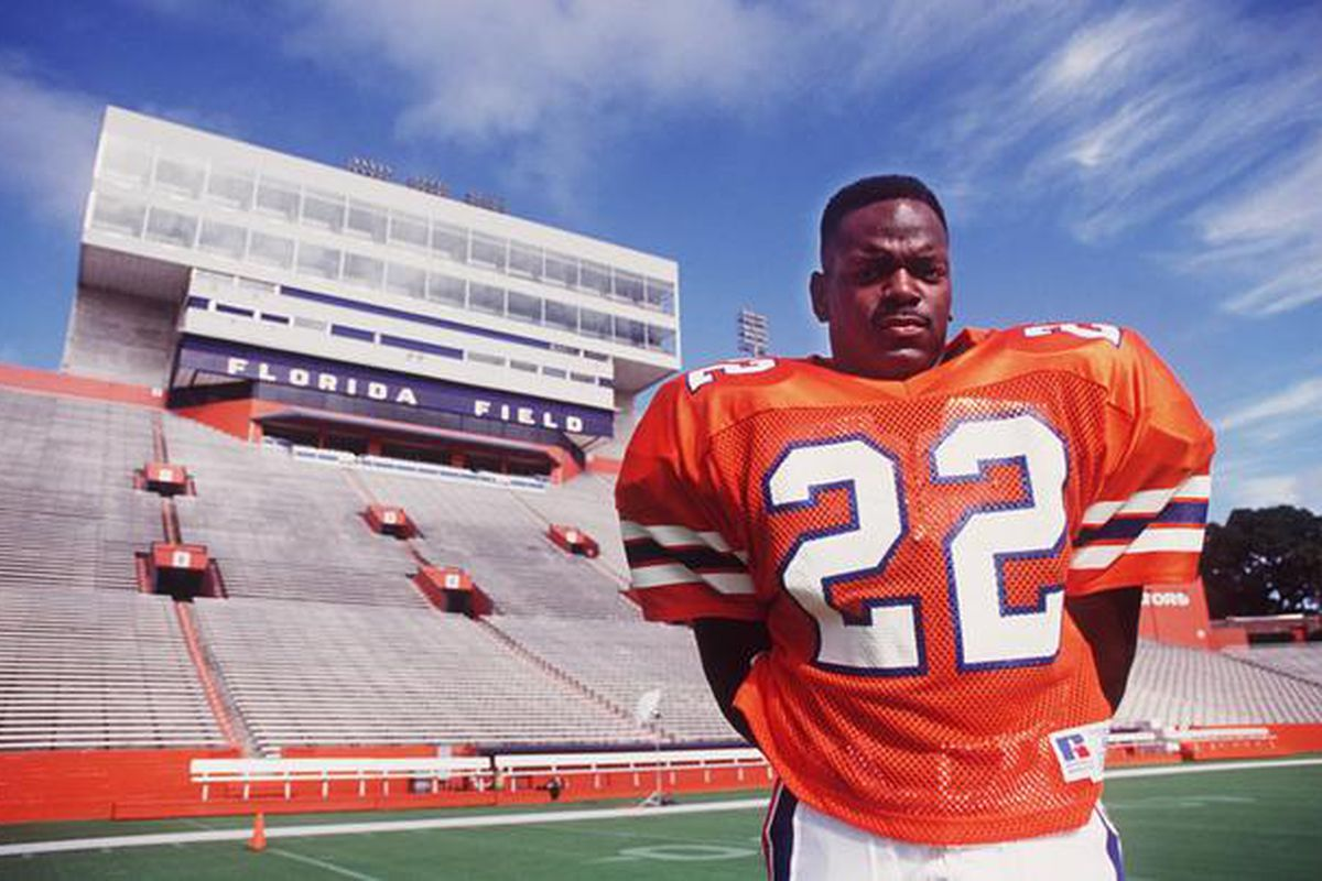Ever since Emmitt Smith touched a football, the sky was the limit for the long-time Gator and Cowboy. (Photo courtesy of the <em>The Palm Beach Post</em>.)