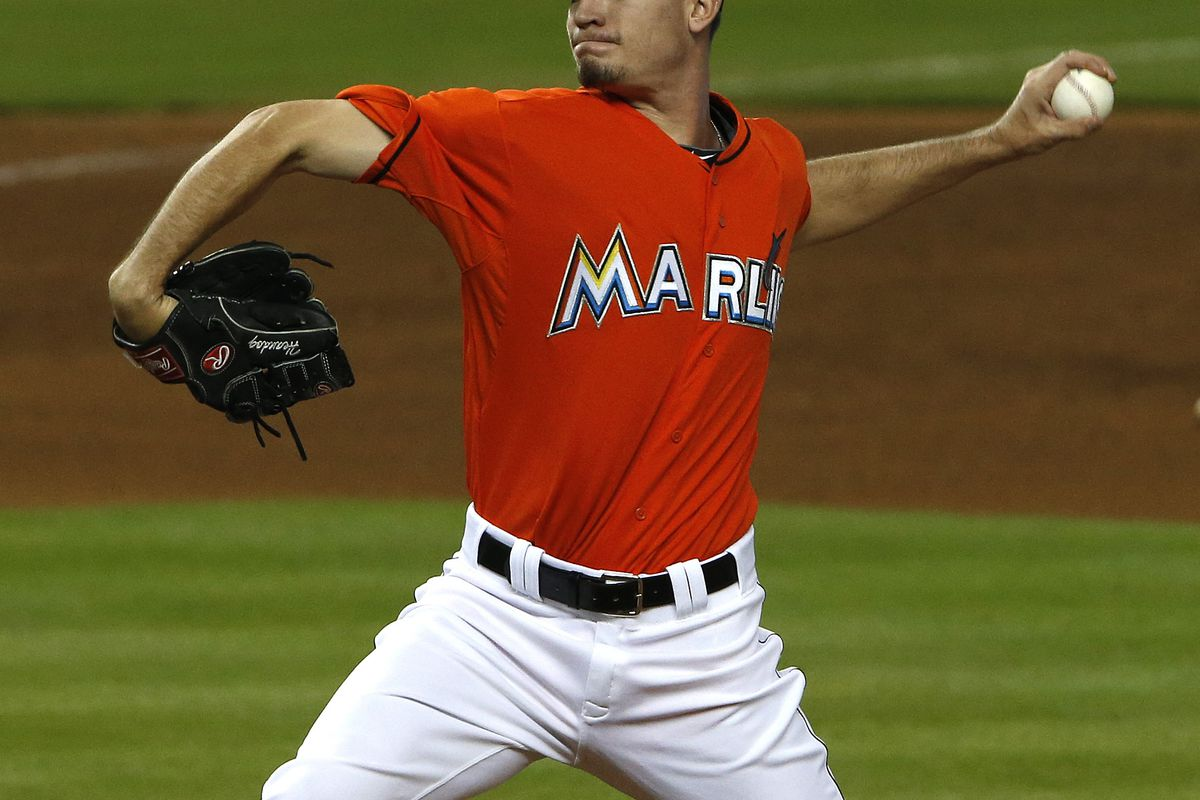 Andrew Heaney was one of the prospects sent to Los Angeles in the deal.