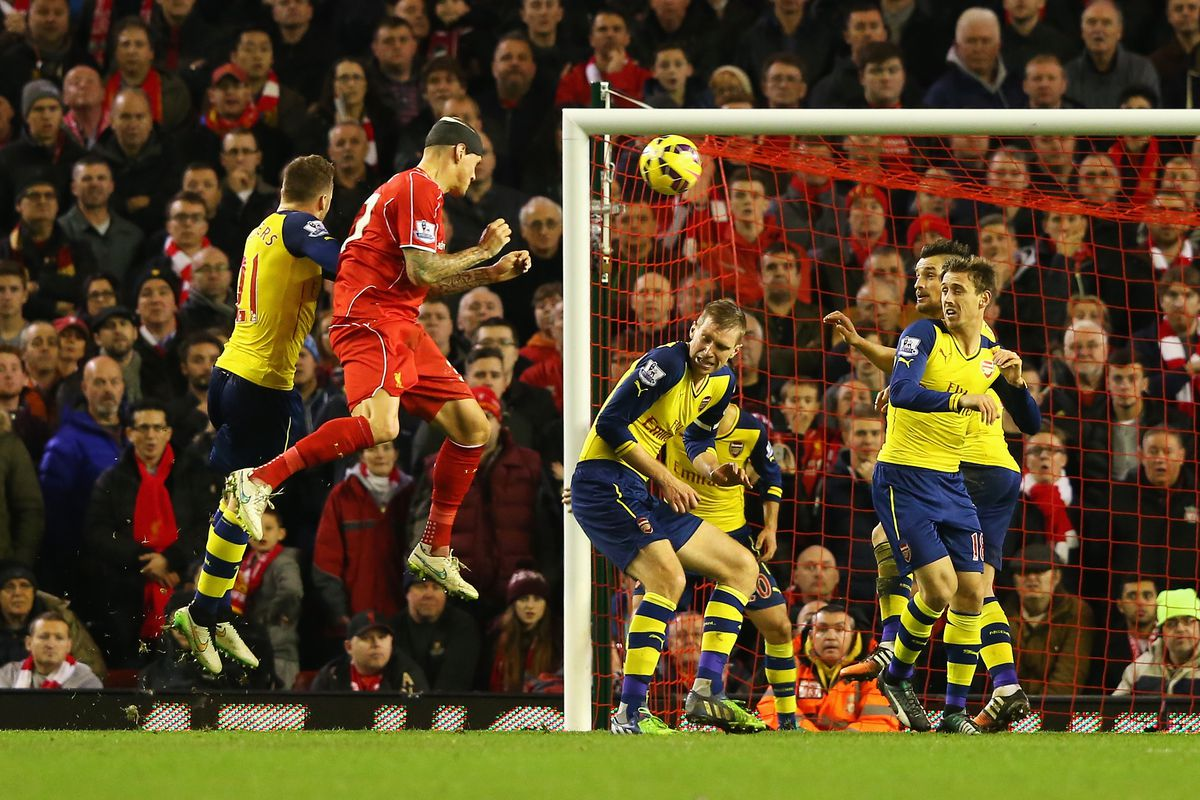 The man pictured here scoring for Liverpool will be unavailable on Saturday.