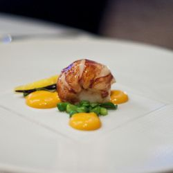 """Lobster at Per Se by <a href=""""http://www.flickr.com/photos/nicknamemiket/5576374582/in/pool-eater/"""">nicknamemiket</a>."""