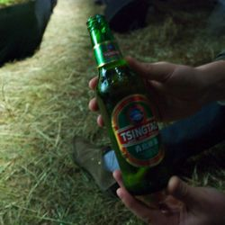The MCF guys gave out Tsingtao's to everyone in the crowd