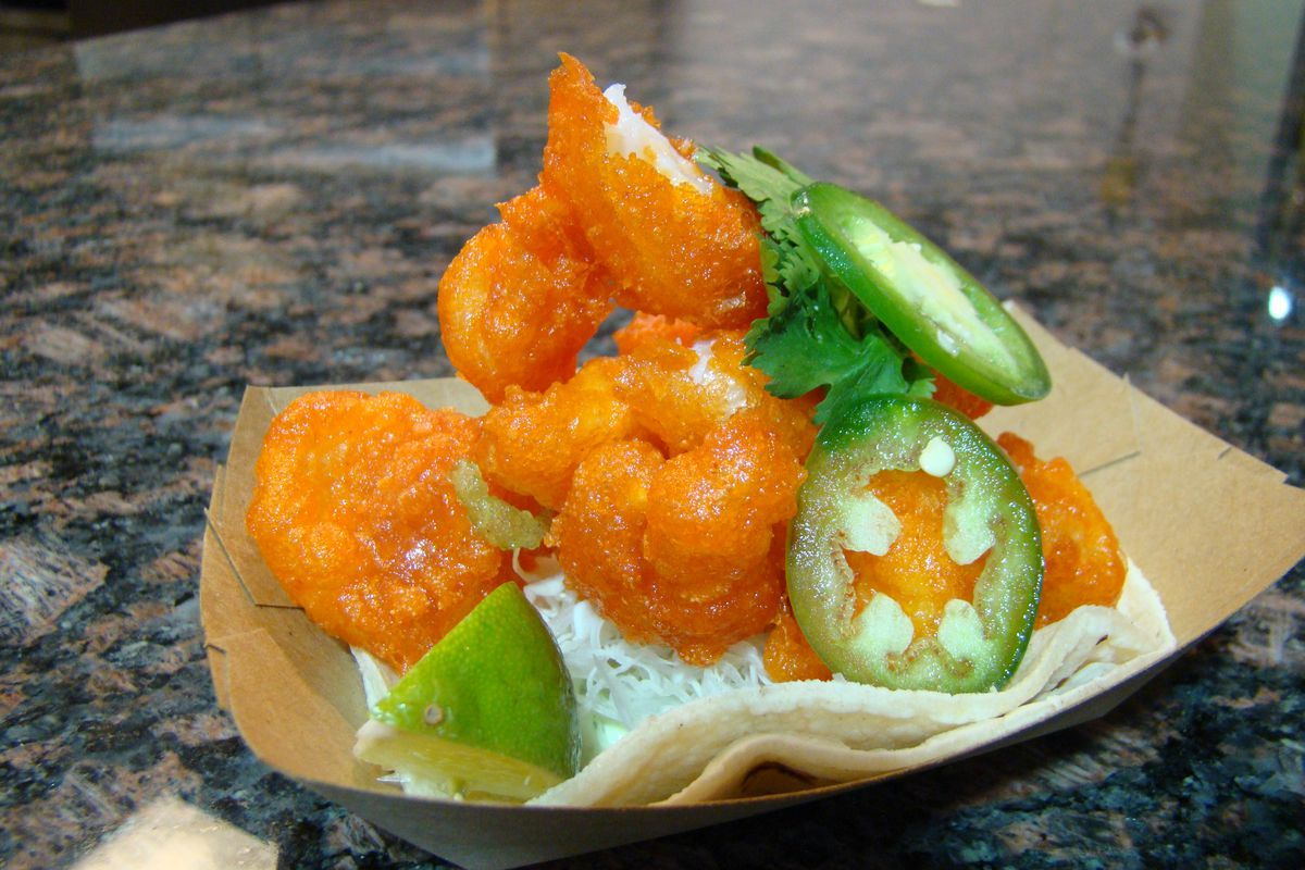 Sonora Grill's shrimp caramelo. Photo by Joy Summers