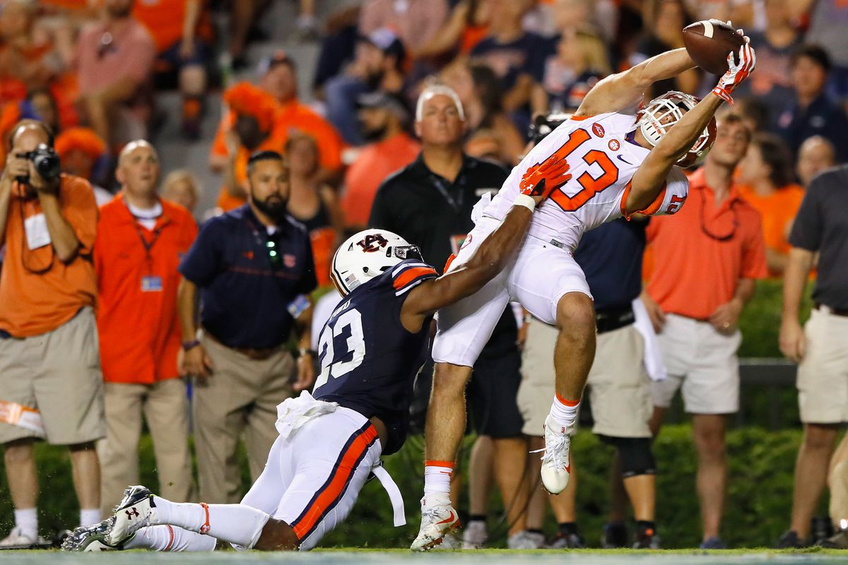 Clemson v Auburn Renfrow with the prettiest catch of the game
