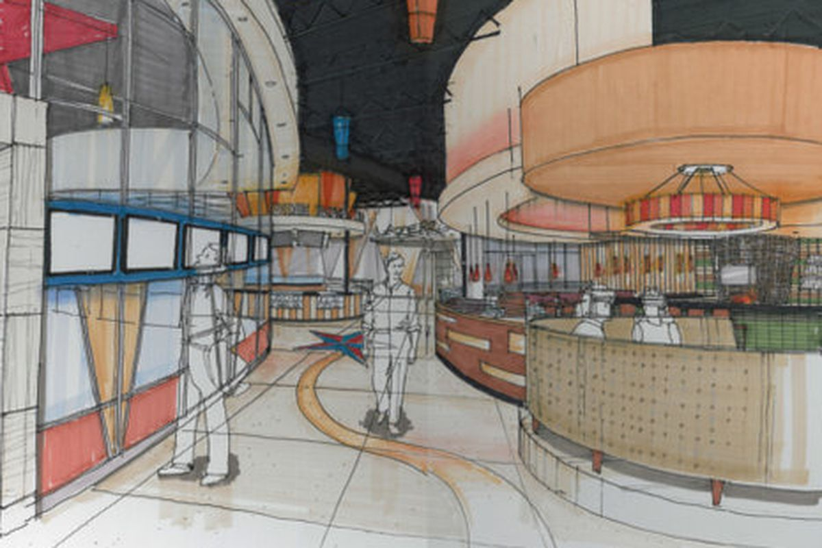 710 Grille at Stars and Strikes rendering.