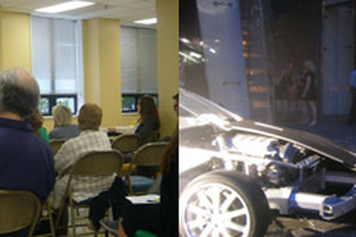 """The meeting per <a href=""""http://evgrieve.com/2009/06/residents-discuss-problems-created-by.html"""">EV Grieve</a> and the car event next door per <a href=""""http://vanishingnewyork.blogspot.com/2009/06/coop-car-party.html?showComment=1244033512863#c10022"""
