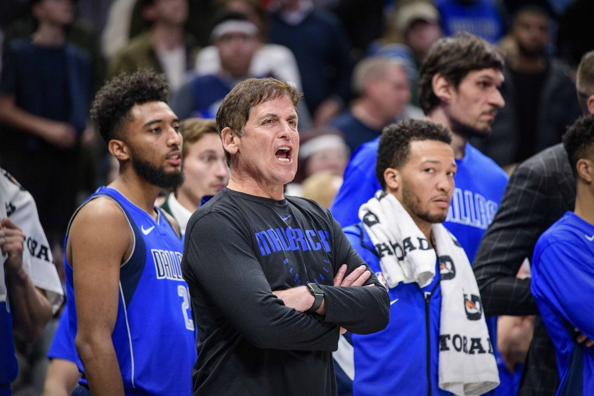 Dallas Mavericks owner Mark Cuban during the game between the Mavericks and the Hornets at the American Airlines Center.