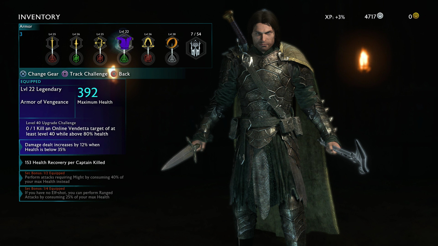 Middle Earth Shadow Of War Guide Inventory Gear Upgrades And