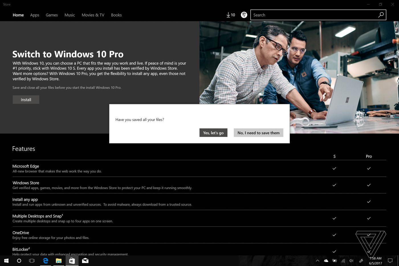 How to upgrade from Windows 10 S to Windows 10 Pro - The Verge